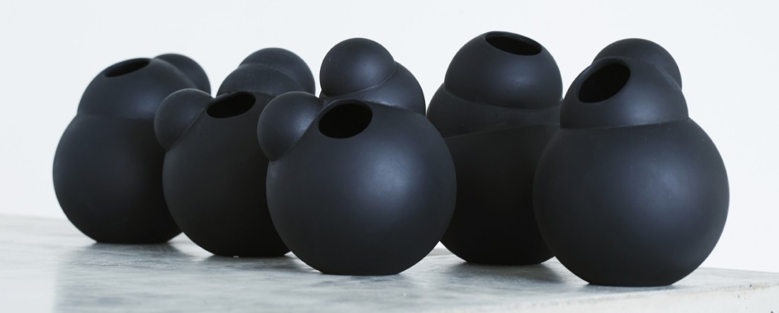 Life is a bubble part #4 vase black
