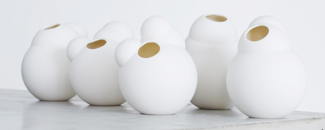 Life is a bubble part #4 vase white