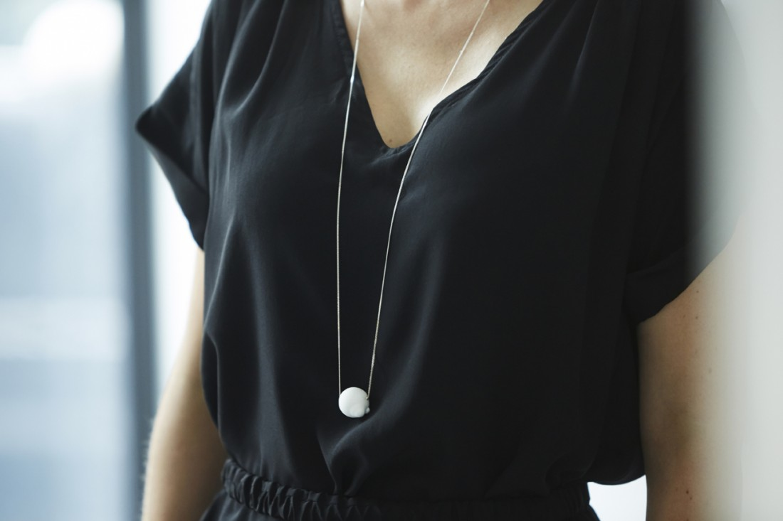 Life is A Bubble - Part #4 Necklace white