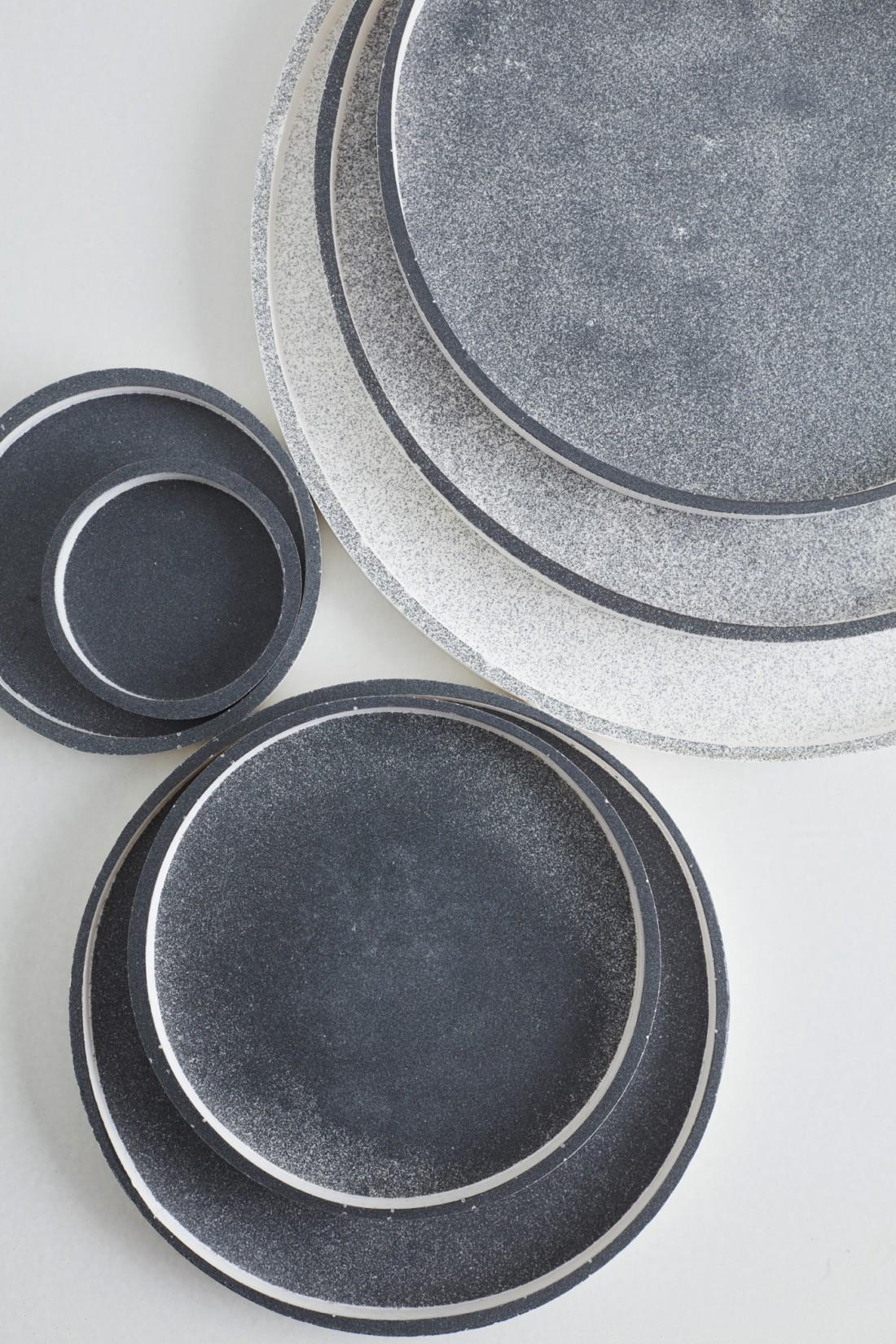 Sept epoxy grey platters